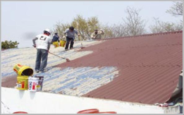 슬레이트지붕 시공